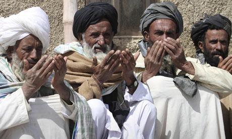 Afghan villagers' prayer ceremony