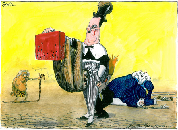 Martin Rowson cartoon 22.03.2012
