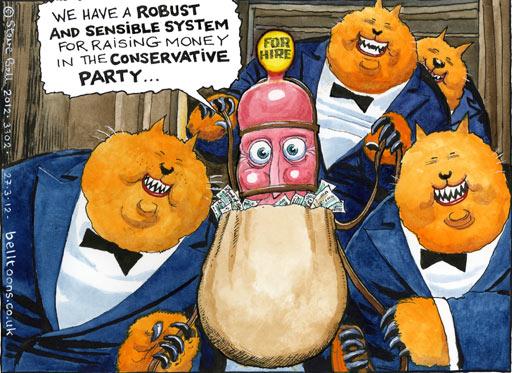 Steve Bell on Tory fundraising