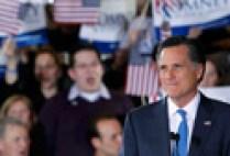 Mitt Romney celebrates his victory