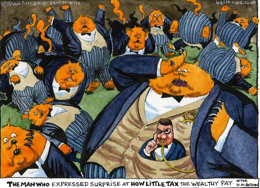 Steve Bell on Osborne and taxes