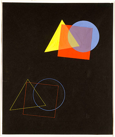 Bauhaus: Eugen Batz Exercise for colour theory course taught by Kandinsky