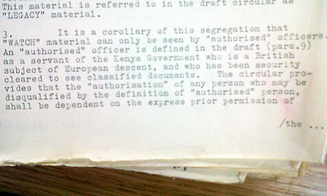 Colonial paper states that documents should only be seen by British subjects