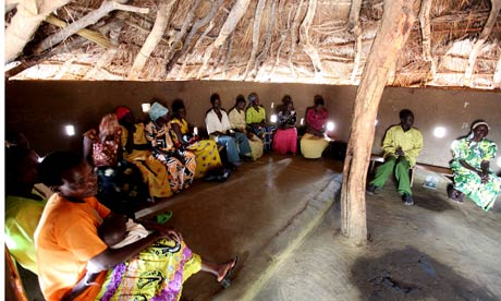 A meeting of the Village Saving and Loan Association<br /> in Katine,