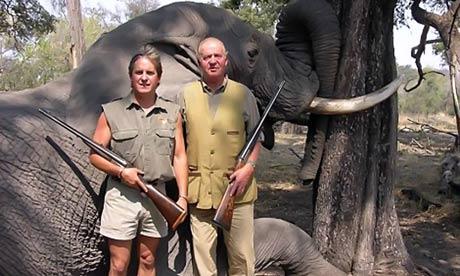 King Juan Carlos in Botswana 04/12