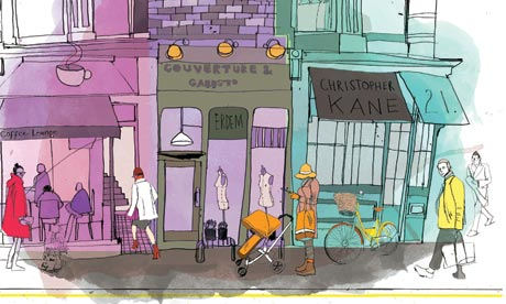 High street illustration for Jane Shepherdson.