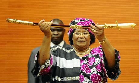 Joyce Banda at her inauguration