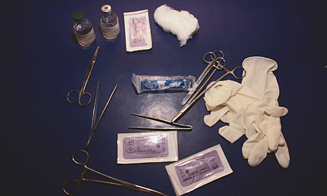 Instruments used in female genital mutilation