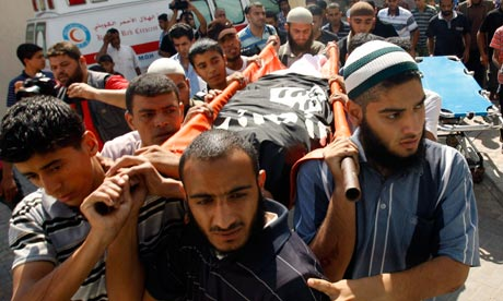The funeral of Ghaleb Armilat, who was killed in an Israeli airstrike, takes place in Gaza