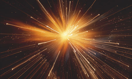 An artist's impression of the big bang