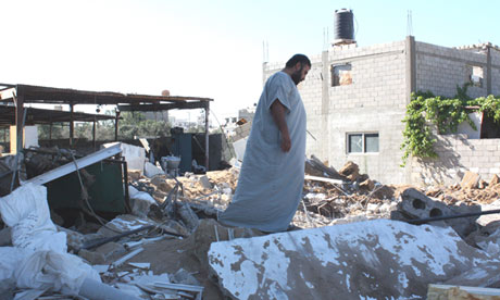 Ma'Amoon Dalloul, whose dairy factory has been destroyed in air strikes four times since 2009.