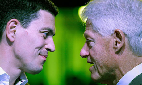 David Miliband and Bill Clinton