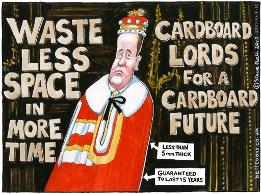 10.07.12: Steve Bell on Nick Clegg and the Lords reform bill