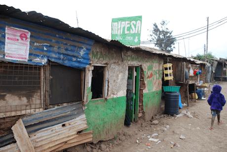 An M-PESA store
