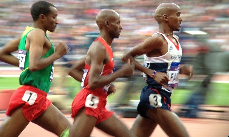 But Mo Farah worked his way up the field