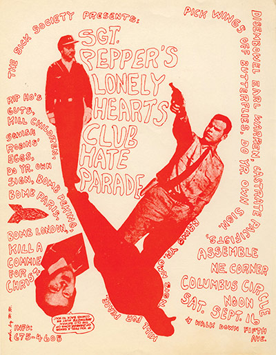 Punk Graphics: Up Against the Wall Motherfuckers flyer, New York 1967