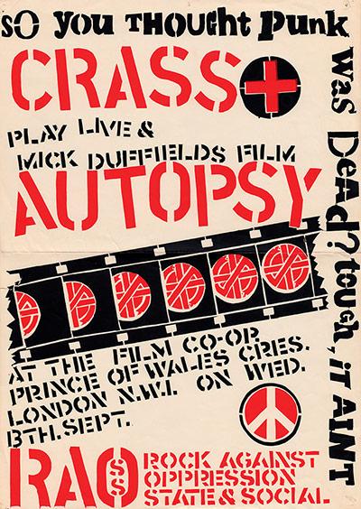 Punk Graphics: Crass poster, 1978