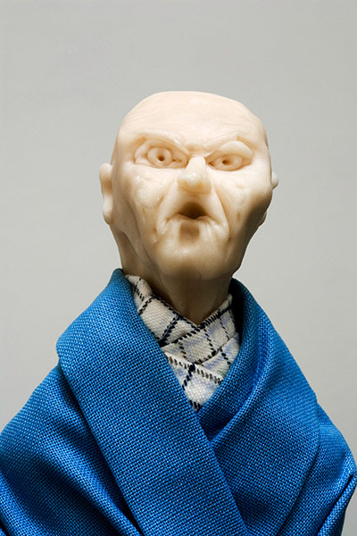 Thomas Schutte: United Enemy 1994, Fimo, fabric, wood, glass, PVC