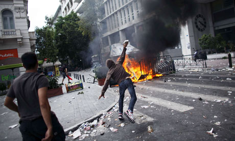 Greek anti-austerity protests in June were marred by violence