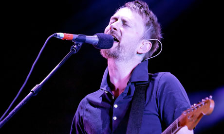 Thom Yorke of Radiohead at the V Festival