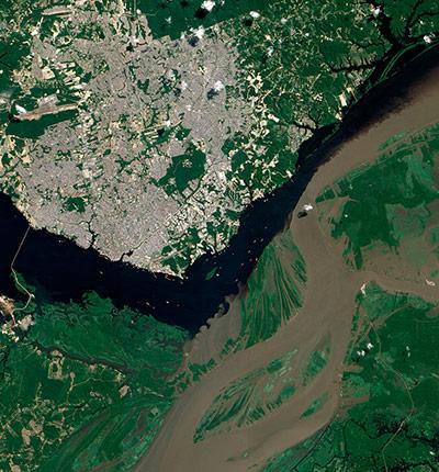 Satellite Eye: Meeting of the Waters