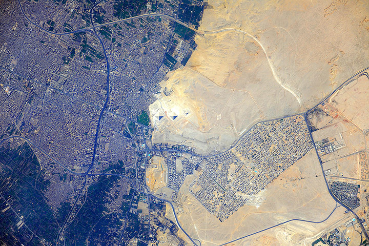 Satellite Eye: Pyramids at Giza