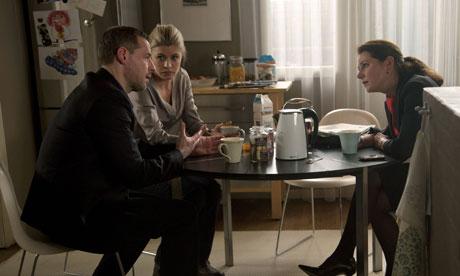 Borgen: Philip Christiansen, Cecilie and Birgitte Nyborg Christensen discuss family matters.