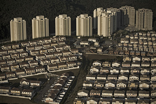 Tower blocks and other dwellings in Alphaville in Sao Paulo