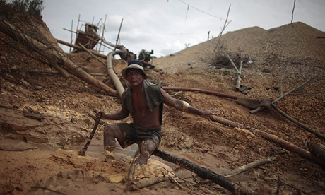 illegal gold mine peru