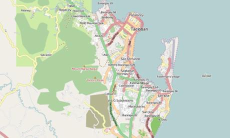 Tacloban City, on OpenStreetMap