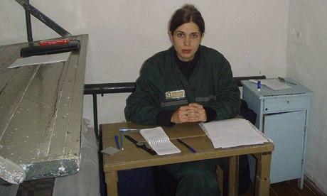 Nadezhda Tolokonnikova in a single confinement cell at a penal colony in Partza on25 September