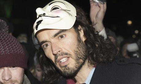 Russell Brand on Anonymous march in London