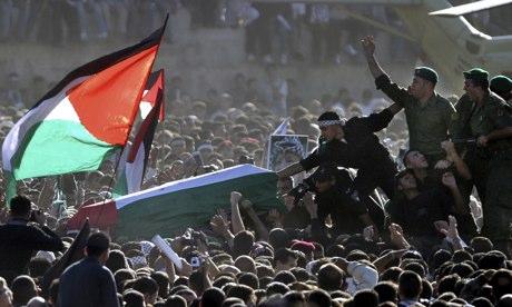 Yasser Arafat coffin