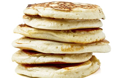 a pile of pancakes