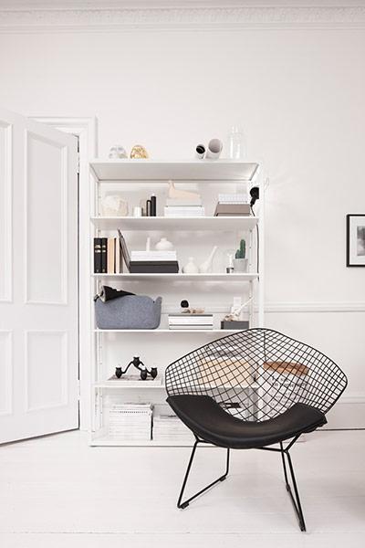 Monochrome Nordic-inspired flat