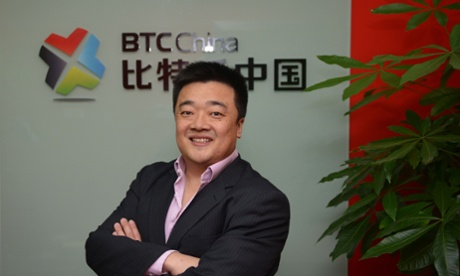 Bobby Lee, chief executive and Co-Founder of BTC China at his office in Shanghai on 4 December 2013.