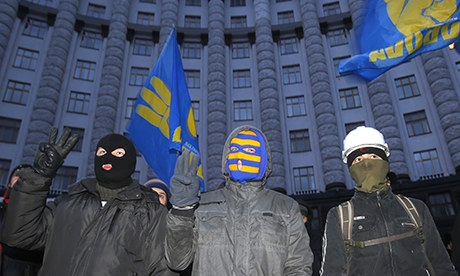 anti government protesters control kiev