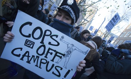 A 'Cops Off Campus' protest – Dec 2013