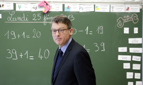 French education minister Vincent Peillon