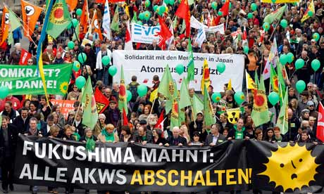 Anti-nuclear demonstration in Cologne, Germany