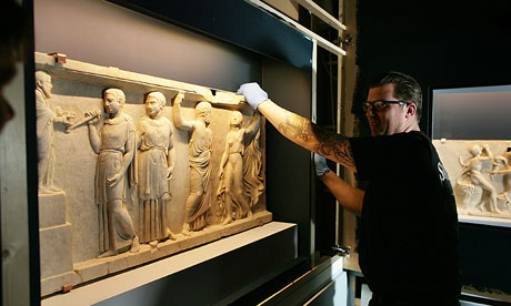 Roman marble relief panels