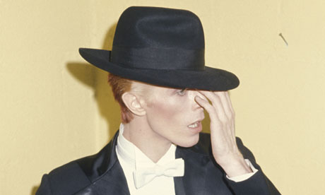 David Bowie at the Grammy awards in 1975