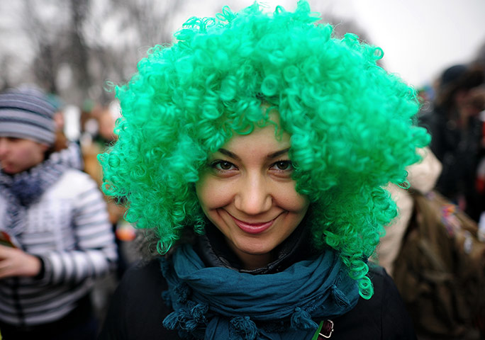 St Patrick's Day Parade: St. Patrick's Day celebrated in Moscow