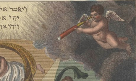 Putto with a telescope