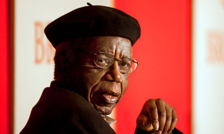 The Nigerian author Chinua Achebe