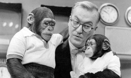 J Fred Muggs with Dave Garroway on NBC's Today, 1954