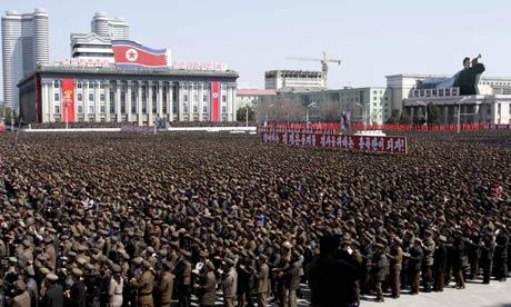 Corea del Norte ejército manifestación