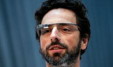 Google's Sergey Brin wearing Google Glass
