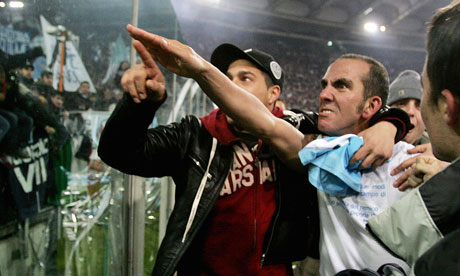 Paolo Di Canio at Lazio in 2005. 'It would be surprising if the Sunderland board tried to claim political naivety, as Di Canio's statements of political belief are on record.' Photograph: Paolo Cocco/AFP/Getty Images