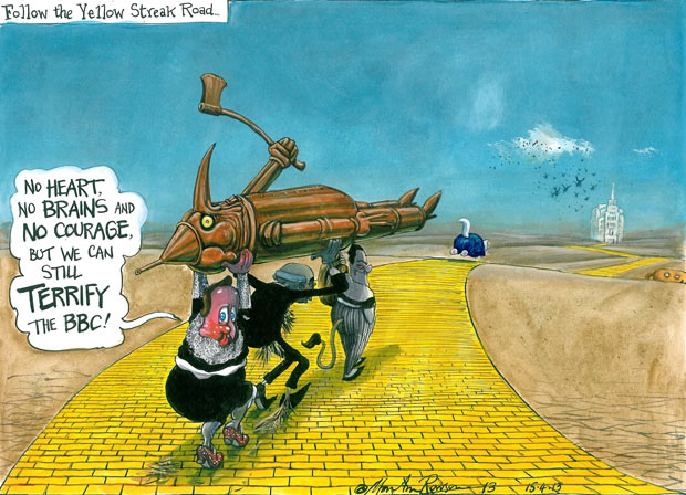 Martin Rowson cartoon 15/04/2013